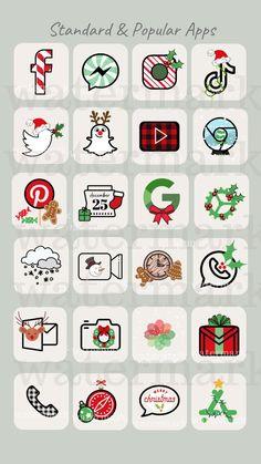 Xmas Wallpaper, Christmas Phone Wallpaper, Iphone Wallpaper App, Iphone Backgrounds, Christmas Aesthetic Wallpaper, Christmas Apps, Christmas Icons, Etsy Christmas, Iphone App Design