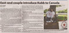 Kubb Canada interview for the Orleans Star #kubb on! \m/