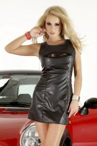Sukienka SL2039 Hot Dress, Dress Skirt, Lace Dress, Leather Dresses, Leather Skirt, Sexy Outfits, Cool Outfits, Black Leather, Soft Leather