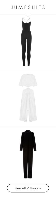 """J U M P S U I T S"" by babypinkbirkin ❤ liked on Polyvore featuring jumpsuits, dresses, rompers, playsuit, valentino, black, jump suit, playsuit romper, valentino jumpsuit and fitted romper"