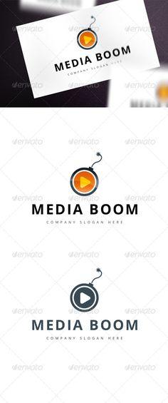 Media Boom — Vector EPS #logo product #brand logo • Available here → https://graphicriver.net/item/media-boom/8013649?ref=pxcr