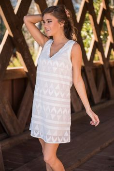 """""""Key To Success Dress, Ivory"""" 