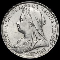 1897 Queen Victoria Veiled Head Silver LX Crown