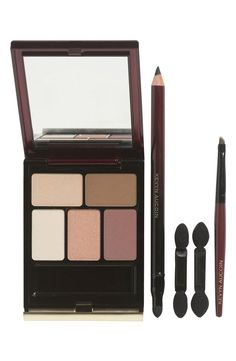 A pretty, neutral eye palette--perfect for fall.