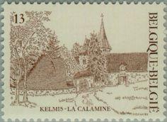 Sello: Tourism: Kelmis - La Calamine (Bélgica) (Logne Castle, Ferrieres) Mi:BE 2274,Sn:BE 1252,Yt:BE 2222,Bel:BE 2222