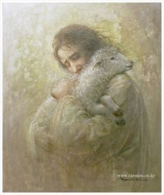 Jesus lovingly, joyfully welcomes raisin back hokme to heaven. Jesus missed raisin while he was down here on earth with me, lent by the Father to save me.Jesus knows how i feel. Lord Is My Shepherd, The Good Shepherd, Lds Art, Bible Art, Holy Art, Pictures Of Jesus Christ, Christian Artwork, Jesus Painting, Prophetic Art