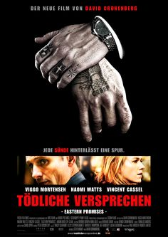 Eastern Promises - Directed by David Cronenberg - Written by Steven Knight - With Viggo Mortensen, Naomi Watts, Vincent Cassel Vincent Cassel, Viggo Mortensen, Naomi Watts, Great Films, Good Movies, Awesome Movies, 2016 Movies, Movies Free, Brad Pitt