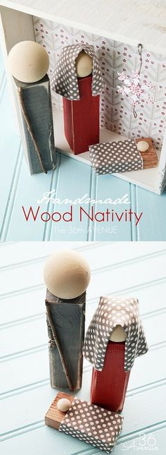 Christmas Nativity - Adorable DIY Nativity at the36thavenue.com