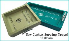 Nautical custom trays with compass rose design and cleat handles: https://www.obxtradingroup.com/index.php?p=catalog&mode=search&search_in=all&search_str=Custom+Coordinates+Serving+Tray Available in many delicious colors with your custom coordinates!