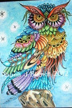Owl drawings...... on Pinterest | colorful owl, owl drawings and owls