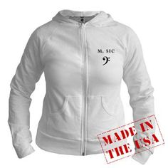 Make Music (Bass Clef) Women's Jr. Hoodie