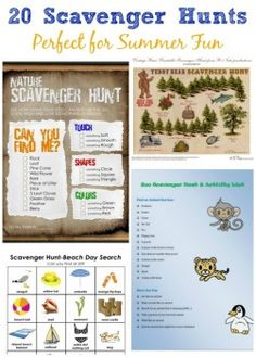 20 Summer Scavenger Hunts for Kids!