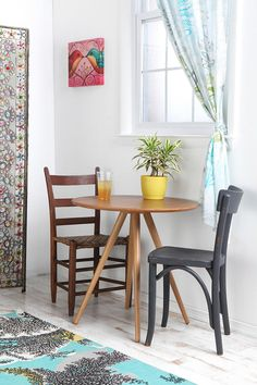 Cute Kitchen Table And Chairs.Quick Kitchen Table Centerpieces Creation For Various . How I Forced An Ikea Table To Turn Into A DIY FarmHouse . Home and Family Small Kitchen Tables, Small Space Kitchen, Small Dining, Small Tables, Round Kitchen, Dining Set, Table And Chairs, A Table, Wooden Chairs