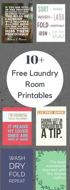 These FREE Printable Laundry Signs are so cute! They