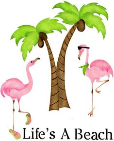 Palm Trees and Flamingos: Life's a Beach Stencil 4230 Life's A Beach at American Home Stencils Flamingo Beach, Flamingo Decor, Pink Flamingos, Flamingo Gifts, Beach Stencils, Stencil Painting, Fence Painting, Stenciling, Rock Painting
