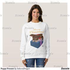 Puppy Present Sweatshirt #dogs #chihuahua #christmas #pets #animals