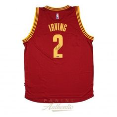 7878ebd73eff KYRIE IRVING Red Cleveland Cavaliers Adidas Swingman Jersey PANINI - Game  Day Legends Nba Draft
