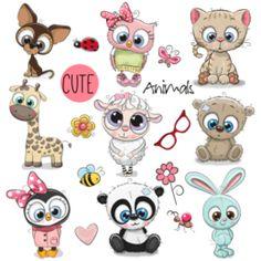 Transfer sublimático para camiseta Infantil 003854 Cute Animal Illustration, Cute Animal Drawings, Cute Drawings, Cartoon Drawings Of Animals, Character Illustration, Owl Cartoon, Cute Cartoon Animals, Cute Animals, Background Patterns