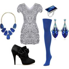 New Year's Eve....I would be all dressed up with no place to go, but I LOVEEEE the colors together!