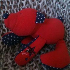 Memory bear keepsake    Made out of children's outgrown clothes.    Facebook katies keepsakes