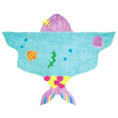 Kidorable Novelty Hooded Child Towel - Mermaid (Small (0-2 years)) by Kidorable. $33.00. Dry off, stay warm, look cool This is one product that really comes alive when wrapped around a child. Our absorbent, soft cotton towels make lounging by the pool and beach, or drying off after a bath, extra fun. These quality towels come in two sizes, newborn to two years, and ages three to six.