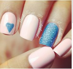 Luv the colors accent nail art