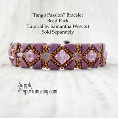 Tango Passion Bead Pack, BB3, for Backsplash Bracelet From Samantha Wescott - Tutorial Sold Separately - Colorway by Claire by SupplyEmporium on Etsy https://www.etsy.com/listing/294588133/tango-passion-bead-pack-bb3-for