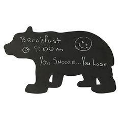 Bear messaging chalkboard. Not a bad idea for a #Baylor living room, kitchen, or dorm room!