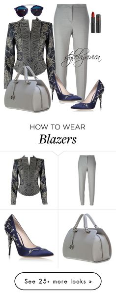 """Blue Blood."" by stylebyvivica on Polyvore featuring Oscar de la Renta, FABIANA FILIPPI, Christian Dior and RALPH & RUSSO"