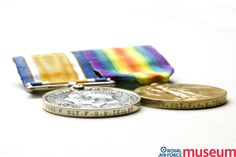 First World War medals.    These medals were awarded to Flight Sergeant Frank R.V. Tealby, a technical illustrator for the Royal Flying Corps and whose drawings appear in many sets of rigging notes. Tealby was a plumber by civilian occupation and had joined the RFC in January 1915.