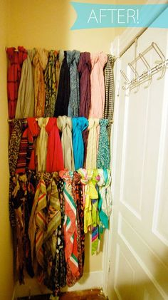 cool way to hang scarves!