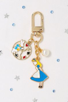 Alice's Adventures in Wonderland Keychain / Disney Key Ring / AirPods Key Ring / Key chain / Accessories / Gift for Women, Her / Rabbit Disney Keychain, Cute Keychain, Adventures In Wonderland, Alice In Wonderland, Kawaii Jewelry, Airpod Case, Cute Pins, Craft Stick Crafts, Car Accessories