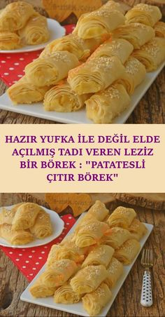 A Very Delicious Pastry That Brings Taste Opened Not By Ready Dough: Potato Crispy Pastry Pastry Recipes, Pie Recipes, Crispy Potatoes, Turkish Recipes, Homemade Beauty Products, Iftar, Popular Recipes, Beautiful Cakes, Hot Dog Buns