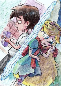 """paurachan: """" Using colored pencils to colour an art is really time consuming for me and I've never achieved as good results as painting with watercolours :v Anyway I should finish that work few months ago, but I was too lazy xD """" Flying Owl, Star E Marco, 6 Chakra, Starco Comic, Star Force, Star Butterfly, Star Vs The Forces Of Evil, Cute Cartoon Wallpapers, Force Of Evil"""