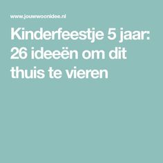 Kinderfeestje 5 jaar: 26 ideeën om dit thuis te vieren Girl Birthday, Happy Birthday, Birthday Parties, I Party, Party Time, Diy And Crafts, Crafts For Kids, Kids Playing, Cool Kids