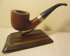 Vintage Oldenkott Studio Bent Pot Poker San Jose Vein Briar Estate Tobacco Pipe