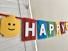 Lego Theme Birthday Banner Lego Inspired Party Decorations