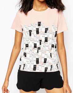 Image 3 ofPaul and Joe Sister Exclusive T-Shirt In Cat Print