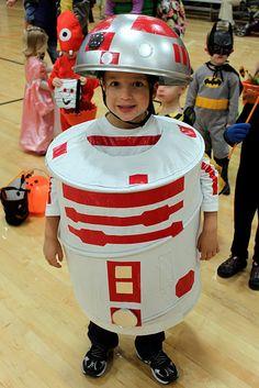 Homemade R-4 Robot Halloween Costume