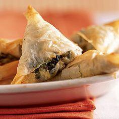 Top-Rated Greek Recipes   Mini-Spanakopitas (Greek Spinach Pies)   CookingLight.com