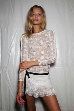 White Lace Top styled by Isabel Marant.