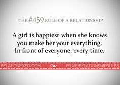 A girl is happiest when she knows you make her your everything. In front of everyone, every time. Marriage Relationship, Relationships Love, Love And Marriage, Love You, My Love, Quotable Quotes, Qoutes, True Words, Life Lessons