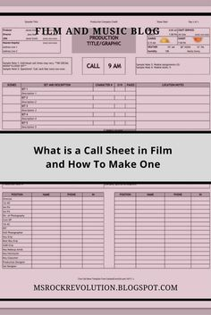 Every day of production has a separate call sheet which is sent out a day or two prior to filming or printed copies are handed out by the end of each shooting day. Rock Revolution, Package Design, Separate, Things To Think About, Irish, Ms, Honey, Management, Film