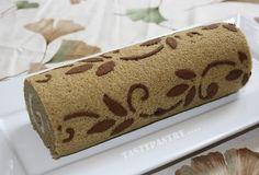 Bloggang.com : Tristy : เค้กโรลมะพร้าวอ่อน โรลกาแฟ พร้อมลายข้าง stencil ทำเองก็ได้นะคะ ... Swiss Roll Cakes, Swiss Cake, Sponge Cake Roll, Cute Baking, Patterned Cake, Log Cake, Elegant Desserts, Japanese Bread, Cake Recipes