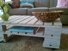 Coffee table made out of wood pallets