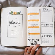 "1,354 Likes, 24 Comments - Rhean (@bulletby_r) on Instagram: ""Here is a full view of my monthly spread for February! For the majority of the month I'm going to…"""