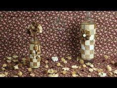 Como Reciclar Garrafas e Filtros de Café e Transformar em um Lindo Enfeite - Parte 1 - YouTube