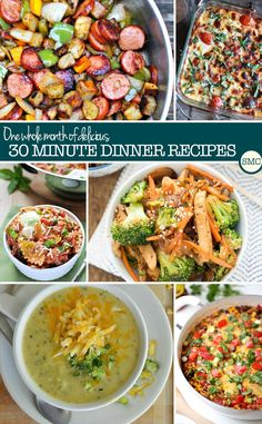 recipes to make mealtimes easier and these 30 minute dinners look