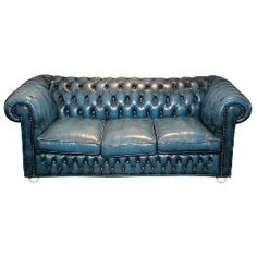 The vintage Chesterfield sofa... they're always in style, don't have to match anything else in the room because they're just that iconic, and they last FOREVER.