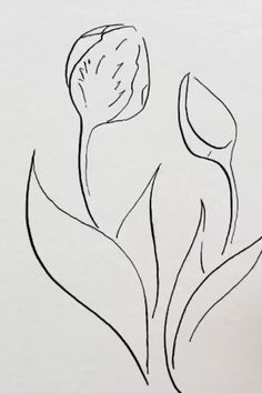 Drawing Tulips with a Watercolor Color Blend - The Painted Pen Pen And Watercolor, Watercolor Flowers, Watercolor Paintings, Tulip Drawing, Drawing Drawing, Matisse Drawing, Drawing Faces, Pencil Art Drawings, Pencil Sketching